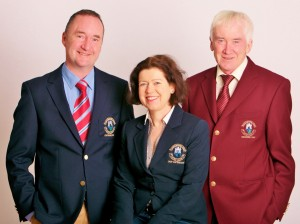 Captains Eamonn McGirl, Patricia O'Hara, and President Tommy Kenoy