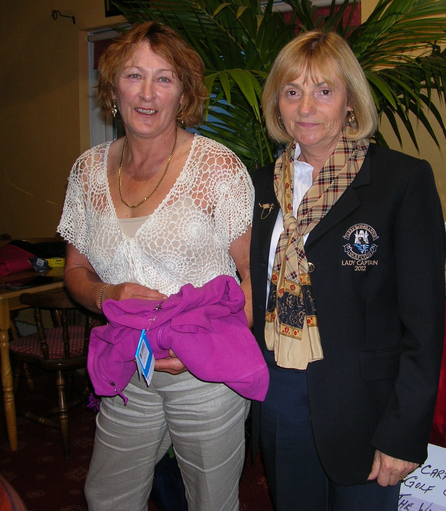 Donnellan Insurance Stroke 2012. Carmel Stritch second prizewinner pictured with Lady Captain Mary King