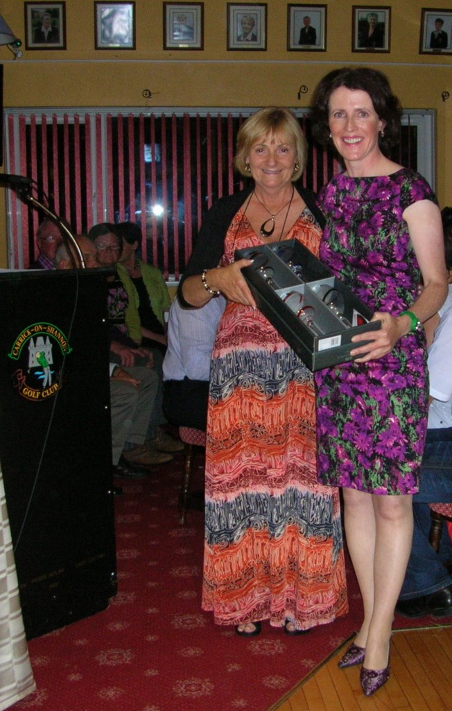 Lady Captain Mary King presents Ger Farry with Best Gross-Sunday on Captains Weekend 2012