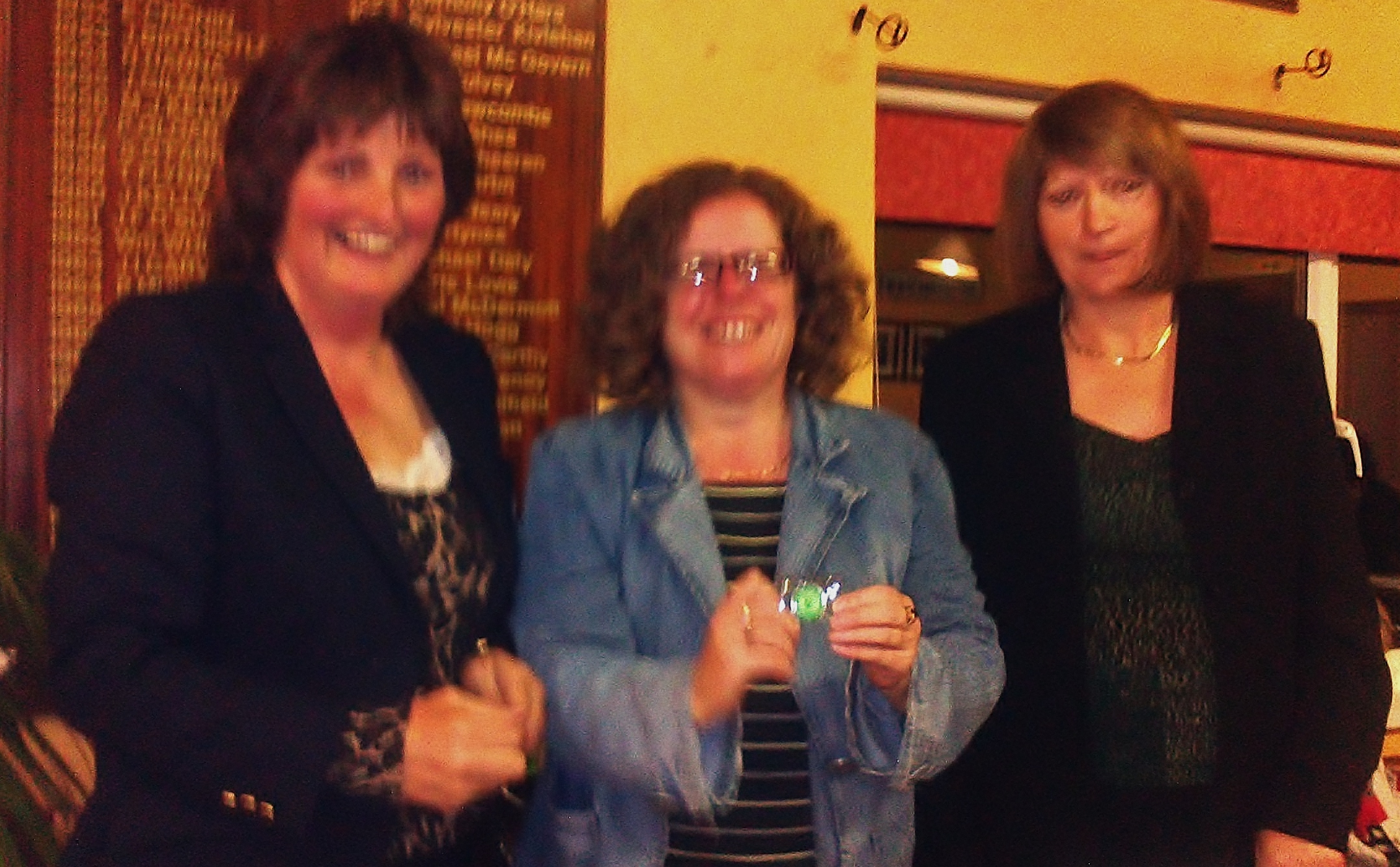 Siobhan Talbot is presented with 2013 Silver Medal by Lady Captain Dolores Mulvey and Vice Captain Mary Molloy