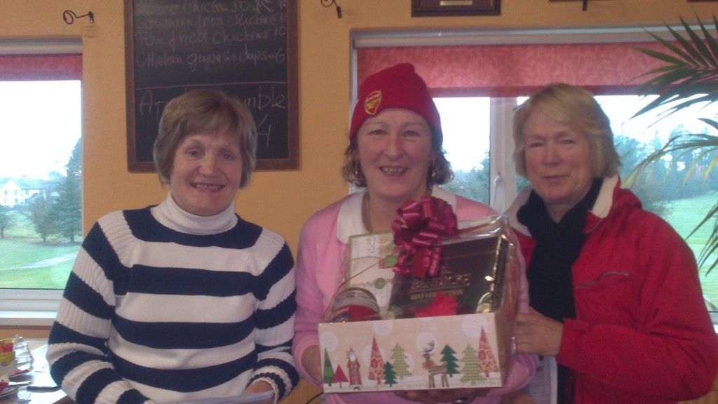Carmel Stritch presented with Second Prize in Jan Alliance by Ann Cox and Marie Leyden