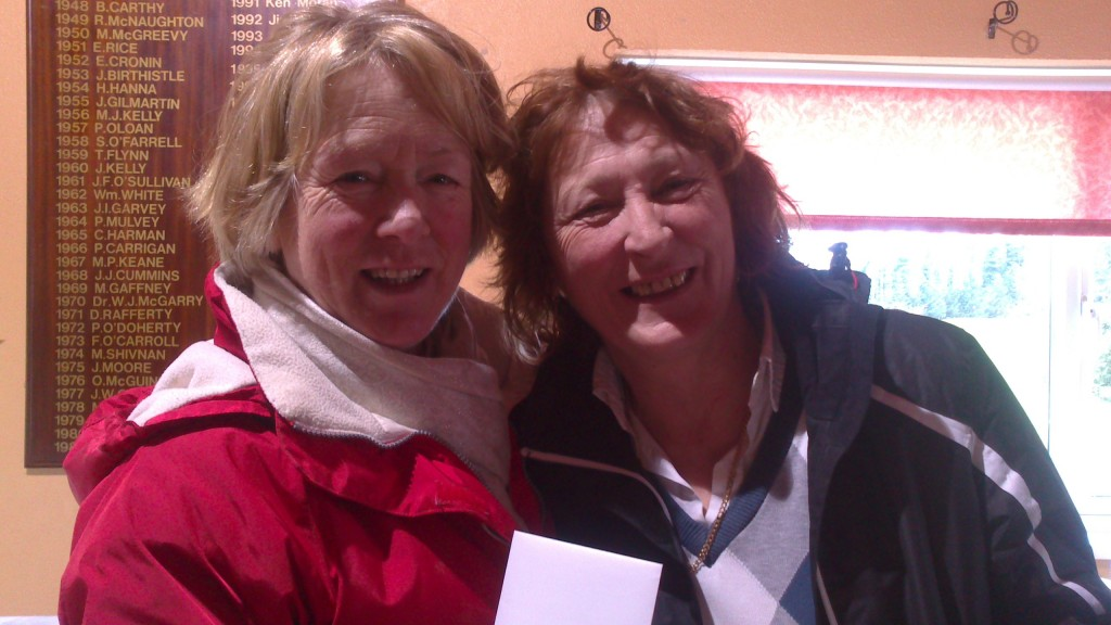 Marie Leyden presents Carmel Stritch with Second Prize in March Winter Alliance