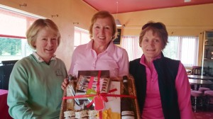 Alliance Captains Marie Leyden & Ann Cox present Marie Gibson(Longford Golf Club) with second prize on Alliance Captains Day.