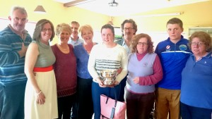 The Talbot family pictured at Carrick on Shannon Golf Club following the presentation of the Maria Talbot Perpetual Trophy to 2015 winner Eimear Gallagher(daughter of Patrice & Mick Gallagher and granddaughter to the late Maria and Oliver Talbot).