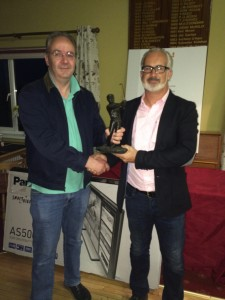 Winner of The McGarry Trophy 2015 Benny Boyle receiving The Trophy from David McGarry