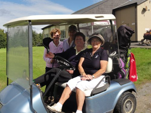 Winners of The Ladies Prize L/R Helen Martin Phil McWeeney Peggy Nolan & Ann Campbell