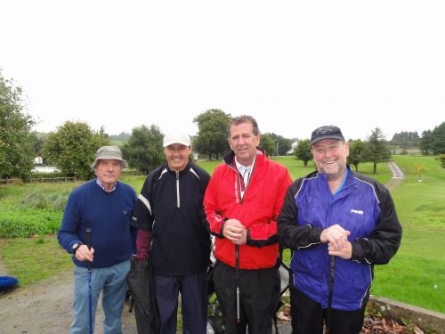 The Winning Combination with 53 points L/R Mickey McSharry John Smith Kevin McLoughlin & Sean Collins