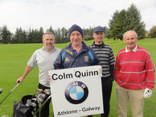 Tighe Maher Joe Bruen John Davis & Kevin Doherty who played on Sat in Colm Quinn BMW Athlone Sponsored Carrick Golf Club Annual Golf Classic over the weekend of Oct 7-9