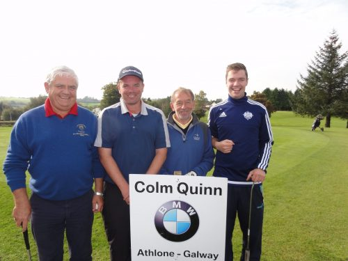 Winning Combination ! L/R Declan & Niall Loftus Tommy Aherne & Jason Loftus who were winners of the Colm Quinn BMW Athlone Sponsored Carrick Golf Club Annual Golf Classic over the weekend of Oct 7-9
