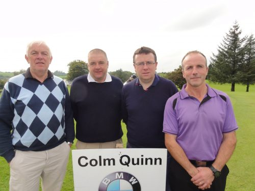 L/R Albert Hogg Kieran Oates Sean Bohan & Joey Casey who played on Sat in Colm Quinn BMW Athlone Sponsored Carrick Golf Club Annual Golf Classic over the weekend of Oct 7-9