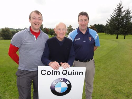 L/R Barry Tom & John Crowe missing from photo Ollie Duignan  who played on Sat in Colm Quinn BMW Athlone Sponsored Carrick Golf Club Annual Golf Classic over the weekend of Oct 7-9