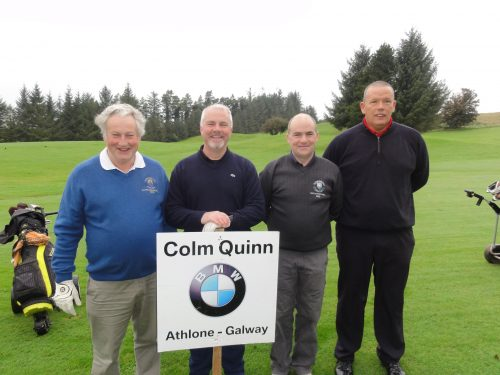 Paddy Duffy's Team without the Duffer L/R Ollie Curran Peadar & Colm Griffin & Derek Nolan who played on Sun in Colm Quinn BMW Athlone Sponsored Carrick Golf Club Annual Golf Classic over the weekend of Oct 7-9