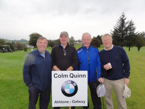 Strandhill Members L/R Jim Coyne Colin Foran Pat McManus & Mick Phelan who played on Sun in Colm Quinn BMW Athlone Sponsored Carrick Golf Club Annual Golf Classic over the weekend of Oct 7-9