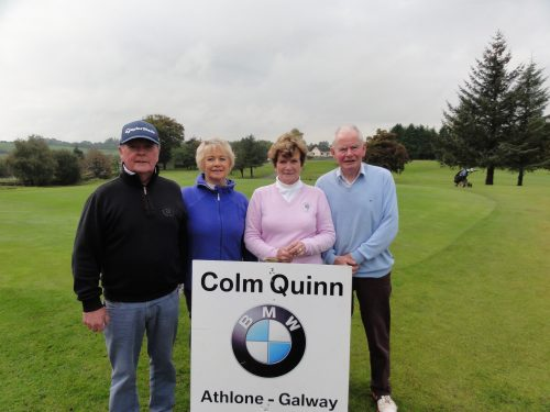 L/R Barry Donnellan Molly Daly Helen Martin & Albert Noone who played in Colm Quinn BMW Athlone Sponsored Carrick Golf Club Annual Golf Classic over the weekend of Oct 7-9