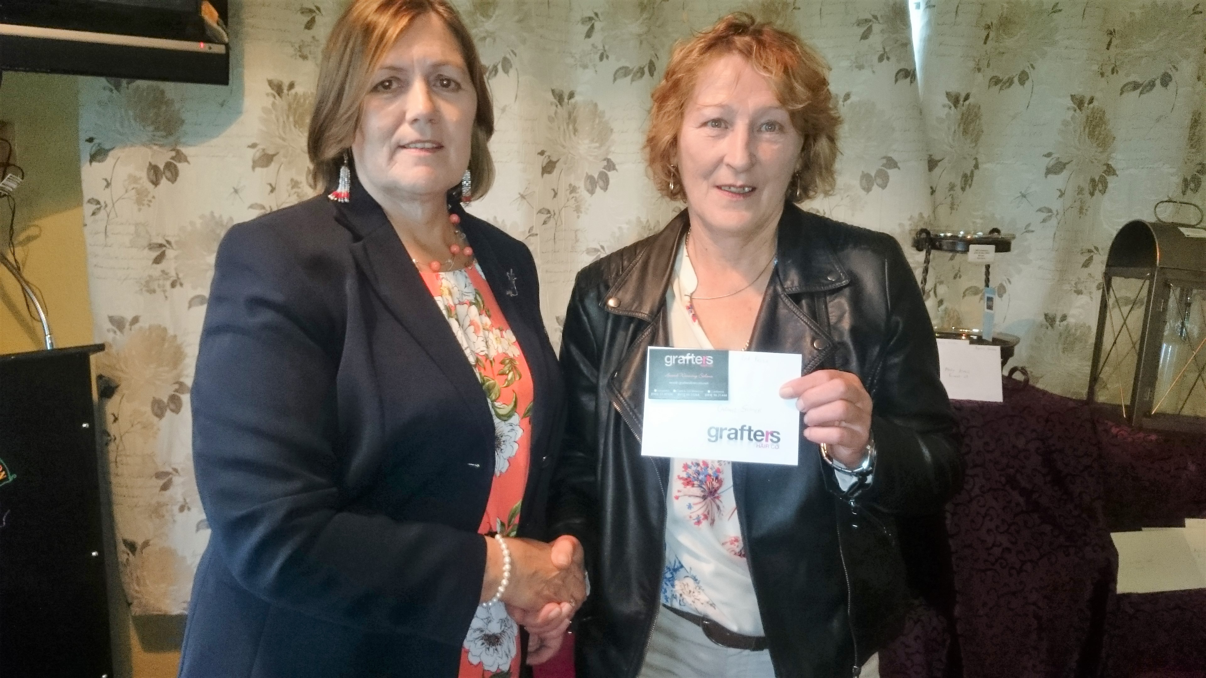 GRAFTERS STABLEFORD: Lady Captain Noeleen Moffatt, Carmel Stritch(WINNER)