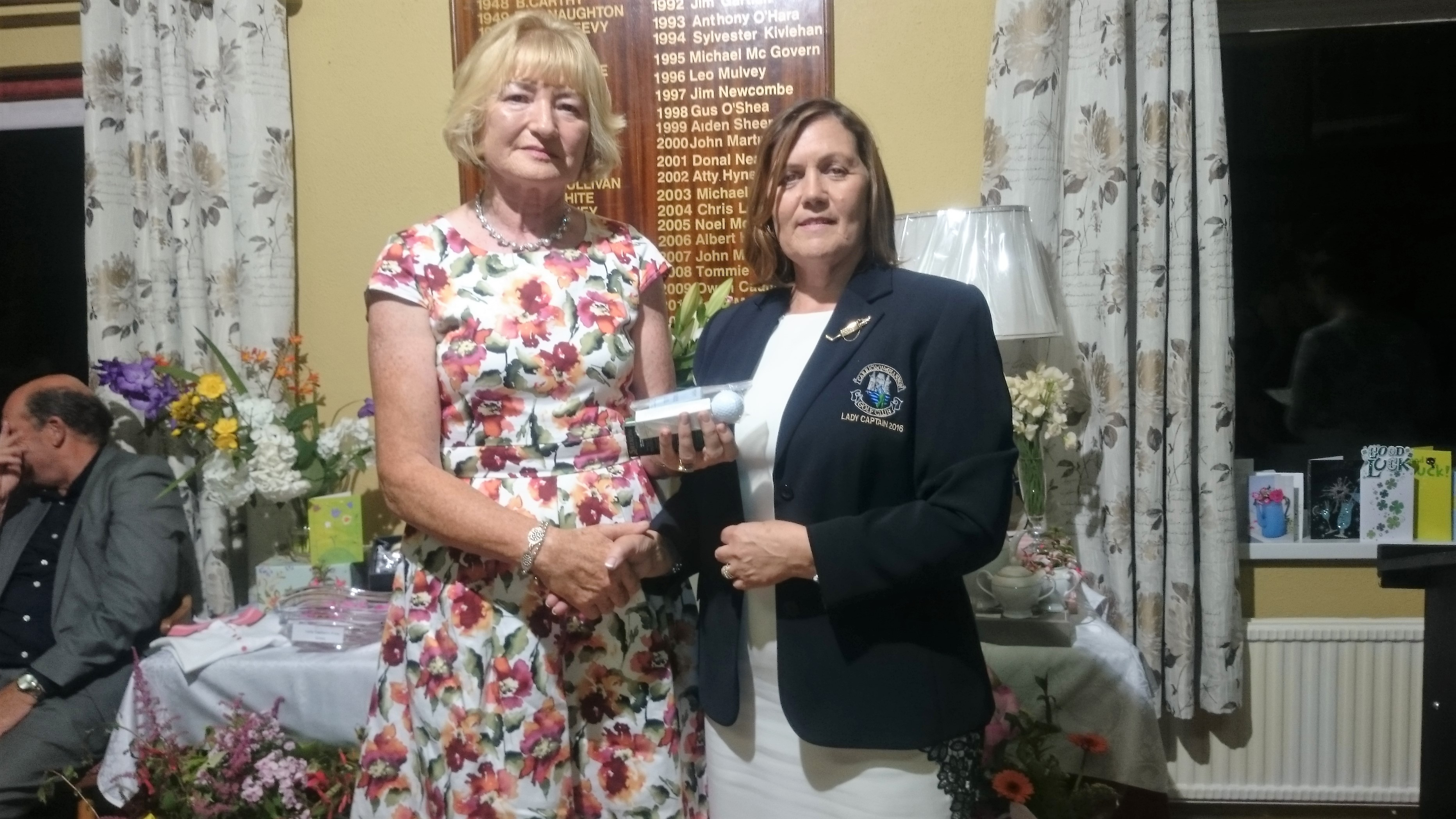 LADY CAPTAINS DAY: Kathleen O'Dowd(3rd Beginner Lady's), Lady Captain Noeleen Moffatt