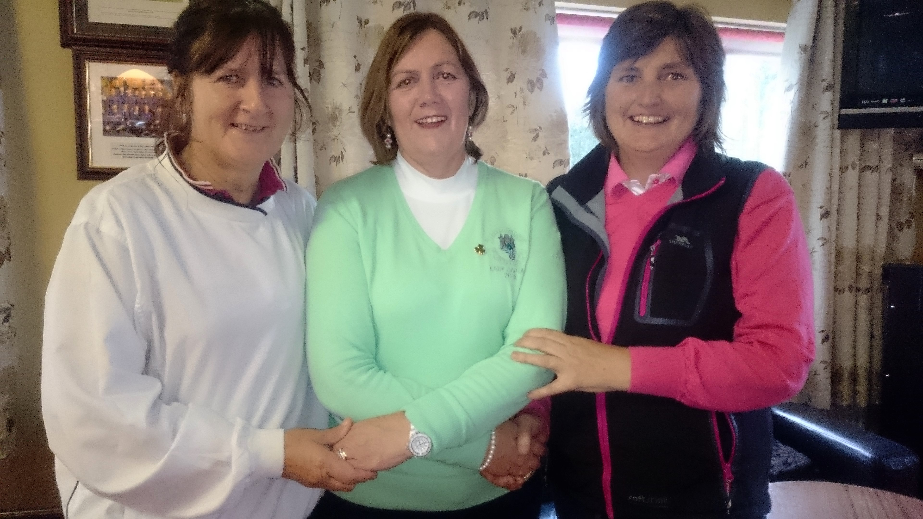 STEWARTS OIL STABLEFORD: PHIL EMMETT(WINNER), LADY CAPTAIN NOLEEN MOFFATT, missing-GER FARRY(GROSS)
