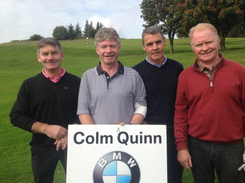 L/R Adrian Beirne Pat King Andy Connellan & Jim King who played in Colm Quinn BMW Athlone Sponsored Carrick Golf Club Annual Golf Classic over the weekend of Oct 7-9